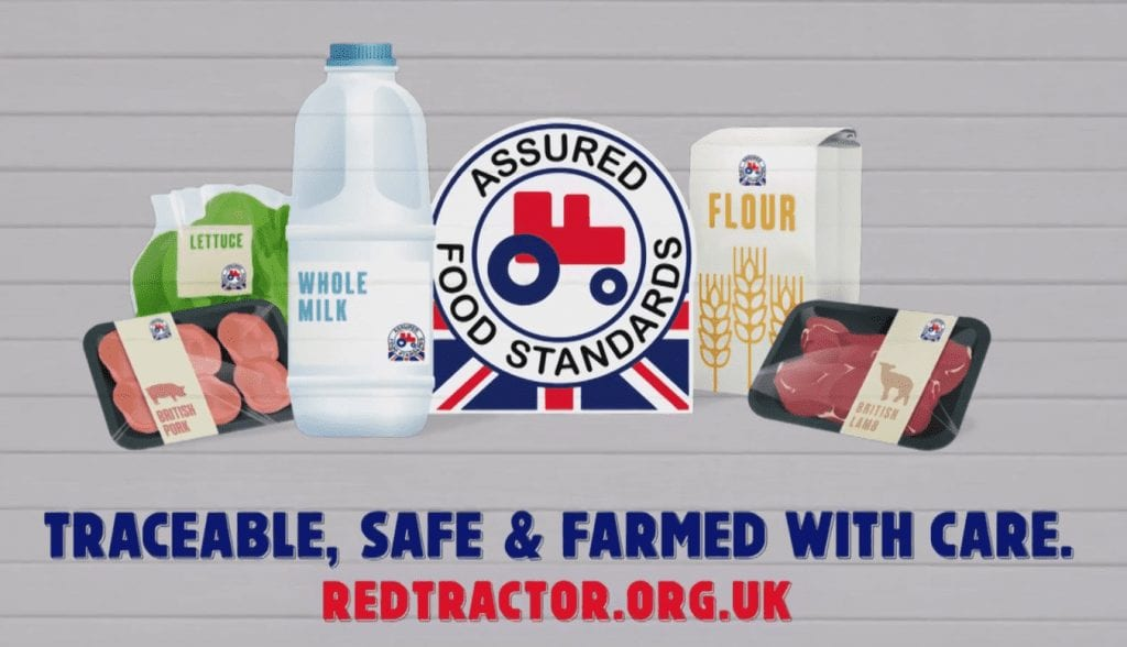 red tractor advert