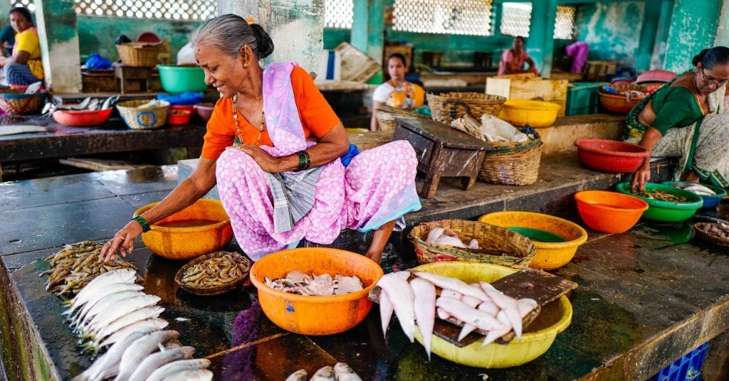 lady preparing food in india