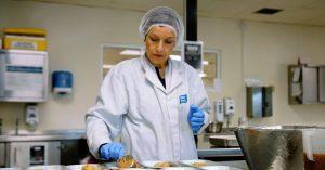 Woman preparing meals