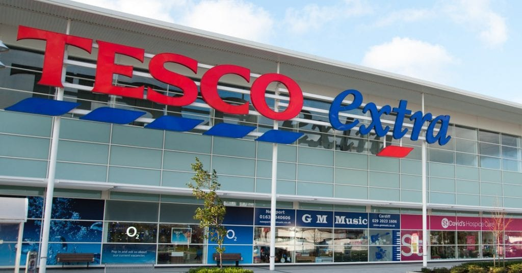 The front of a tesco store