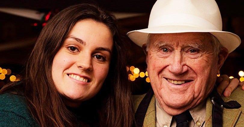 Ella Kelly with grandad Derek