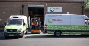 FAre Share workers loading a van