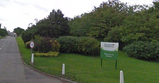 Screenshot of Bernard Maththews Holton entrance