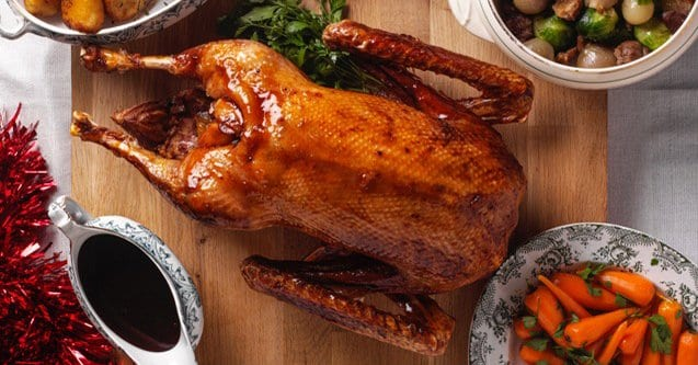 a roasted goose