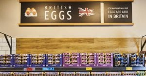 Aldi supermarket shelves
