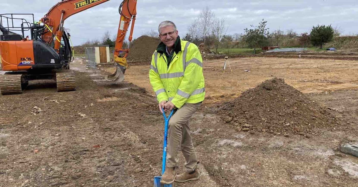 Mark Gorton beginning groundworks at expanded site