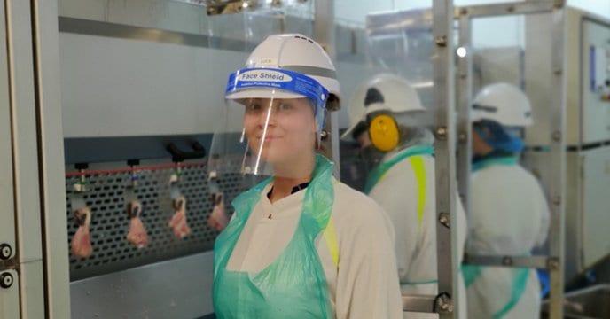 A member of staff at Avara Foods