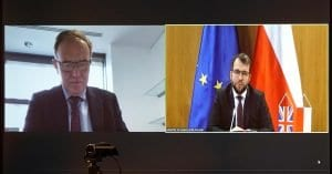 a zoom call between the two ministers