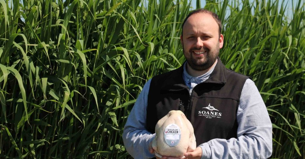Ben Lee with the new Higher Welfare Chicken that has launched online