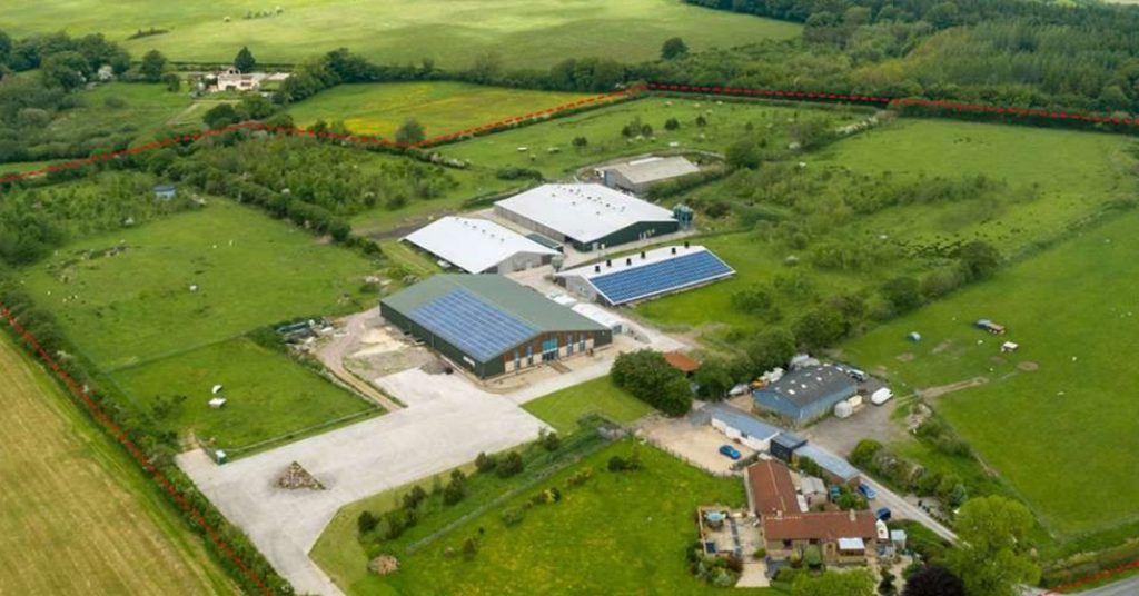 Higher Buckland Farm from above
